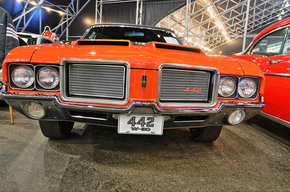 1972 Flame Orange 442 W30 Grille Low Front